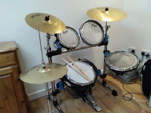 Trapp 5 piece drum kit with crash / ride cymbals hi-hat excellent condition