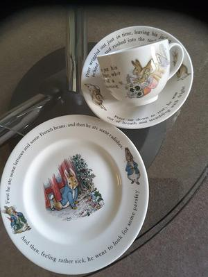 Wedgwood peter rabbit plate,cup and saucer