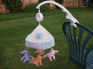 Wind Up Baby Cot Bed Musical Mobile