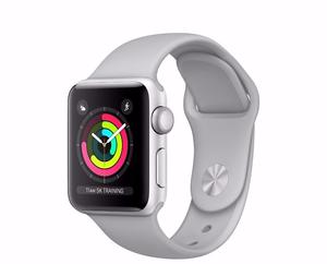 Apple Watch Series 3 (GPS), 38mm Silver Aluminium Case With Fog Sport Band