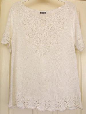 BEAUTIFUL LADIES WHITE TOP BY PER UNA SZ XL B13