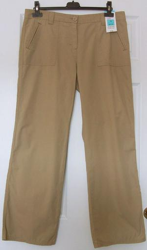 BNWT LADIES CASUAL TROUSERS BY MARKS & SPENCER - SZ 14