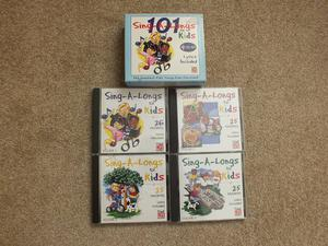Boxed Set of 4 Childrens Sing-A-Long CD's