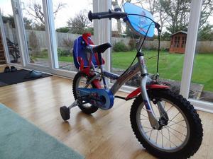 Boys Apollo Rocketman Bike with stabilisers