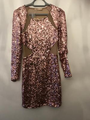 Brand new with tags rose gold sequin dress size 12