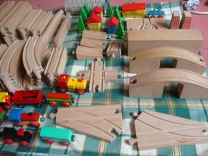 Brio Train set wooden approx 100 piece