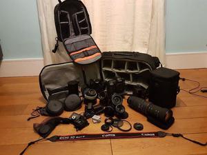 Canon 5D MK iii & Canon 500d inc lenses/Bags/accessories