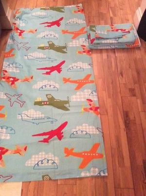 Children's double duvet cover, pillowcases and curtain set