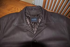 Dark Brown Leather Winter Coat