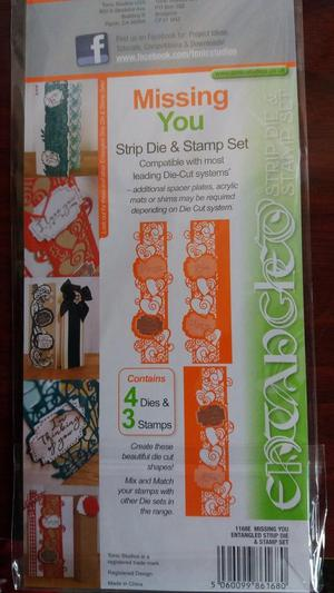 Dies byTonic missing you die and stamp set