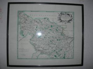 FRAMED MAP of The WEST RIDING of YORKSHIRE