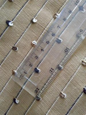 Furnishing fabric- beige striped - natural fibres