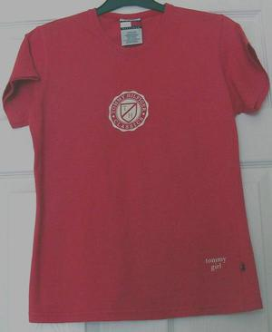 GORGEOUS LADIES RED T SHIRT BY TOMMY HILFIGER - SZ M B21