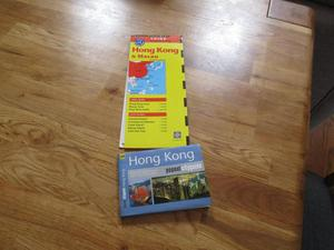 Hong Kong map and popout city guide.