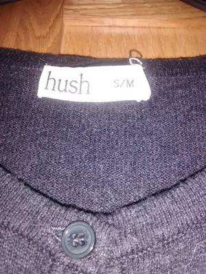 Hush charcoal grey jumper dress size small /medium