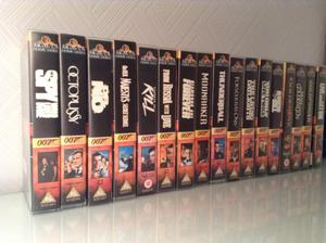 James Bond Collection of Videos. Excellent condition