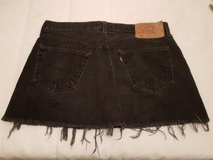 Levi 501 vintage denim mini skirt Sz (W36)