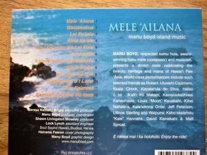 Mele `Ailana by Manu Boyd. C.D. (Hawaiian Music.)