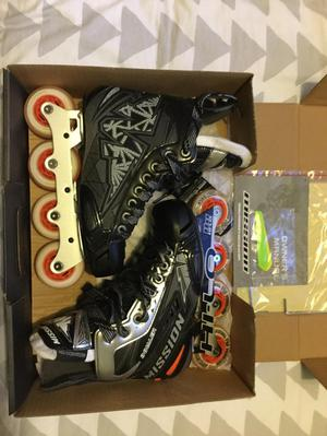 Mission Inhaler NLS Roller Hockey Skates: Size 5.5