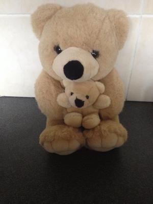 Mummy and baby bear - teddy - beige