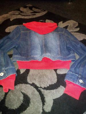 NEW LOOK denim and sweat in one jacket size 14 new tags