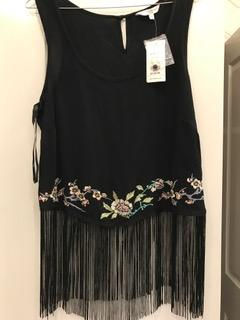 New Look Fringed top - size 12
