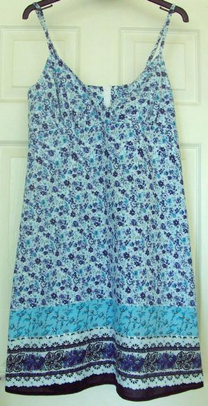 PRETTY LADIES BLUE SUMMER DRESS BY SELECT - SZ 14