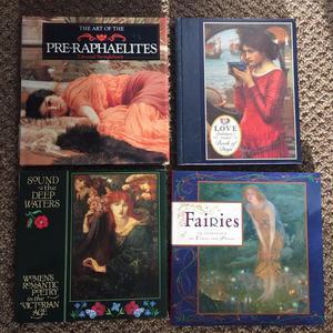 Pre-raphealite and Fairie Poetry books x 4