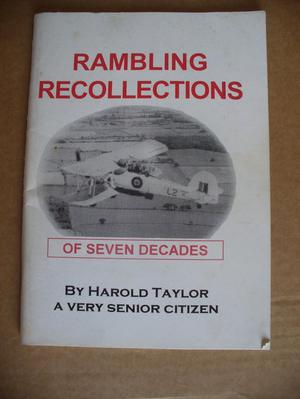 Rambling Recollections of Seven Decades Harold Taylor.Bolton