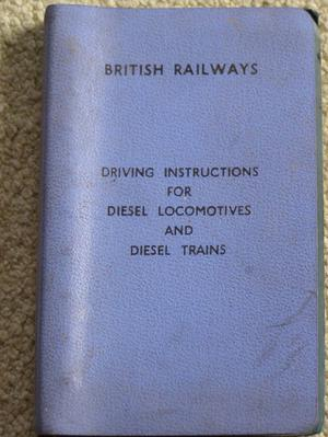 Rare Driving Instructions - Peak Diesels etc (Incl P&P)