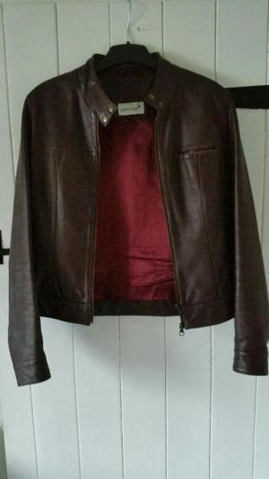 Real soft dark brown leather jacket