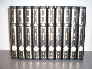Set of 10 black plastic video cases