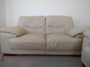Two X 2 seater sofas and storage footstool