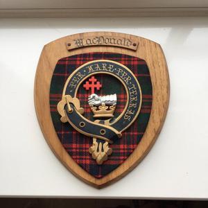 Vintage Plaque Clan Mac Donald