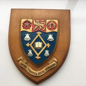 Vintage Plaque Shield Christ's College