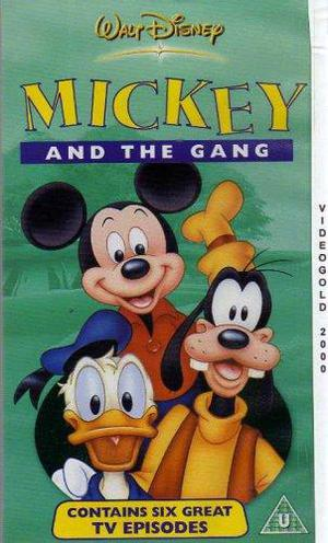 Walt Disney Mickey and the Gang VHS video