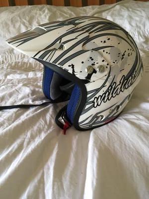 Wildcat kids open face trials bike helmet