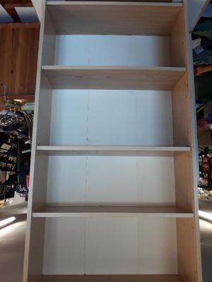 liight wood 4 shelf book case