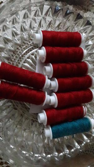 red sewing cotton