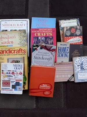 14 craft books. Needlework, cross stitch, embroidery. All good condition