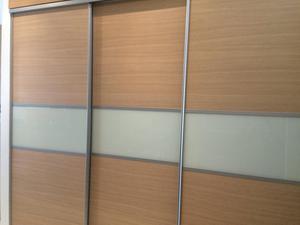 3 x Ex-B&Q Sliding Wardrobe Doors