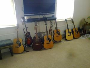 Acoust and semi acoustic Used guitars in Good Condition -