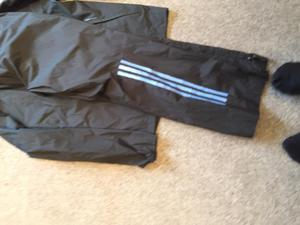 Adidas boys showerproof golf trousers and jacket