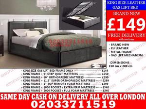 Amazing Offers 60%OFF BRAND NEW KING SIZE LEATHER STORAGE BED Available with Mattress Bridgewater