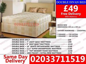 Amazing Offers 60%OFF BRAND NEW SMALL DOUBLE DIVAN BED WITH MATTRESS Atlanta