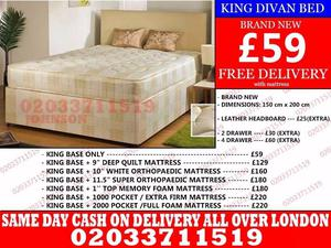 Amazing Offers 60%OFF Brand New King Size Divan Bed Available With Mattress Dallas