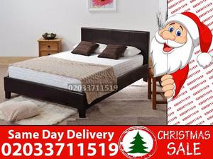 Amazing Offers 60%OFF Brand New King Size Leather Bed Available With Mattress Lewisville