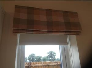 BARGAIN - Laura Ashley Roman Blind (Green Mitford check) in
