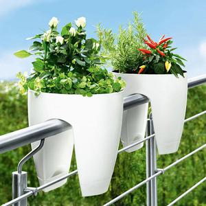 BRAND NEW GREENBO RAILING DECK PLANT HERBS FLOWER BOX WHITE