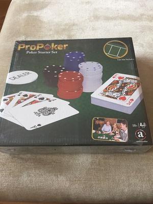 Brand new Poker starter set still in wrapper